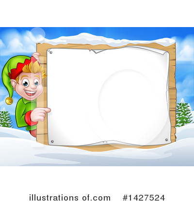 Christmas Elf Clipart #1427524 by AtStockIllustration