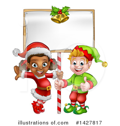Christmas Elf Clipart #1427817 by AtStockIllustration