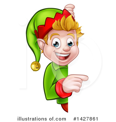 Christmas Elf Clipart #1427861 by AtStockIllustration