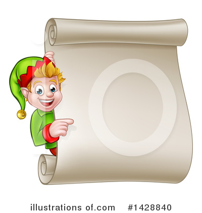 Christmas Elf Clipart #1428840 by AtStockIllustration