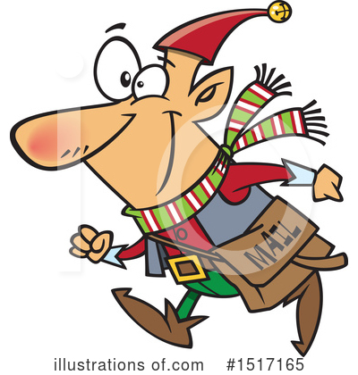 Christmas Elf Clipart #1517165 by toonaday