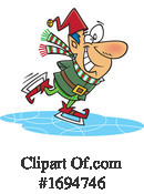 Christmas Elf Clipart #1694746 by toonaday