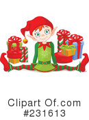 Royalty-Free (RF) Christmas Elf Clipart Illustration #231613