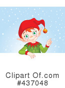 Royalty-Free (RF) Christmas Elf Clipart Illustration #437048