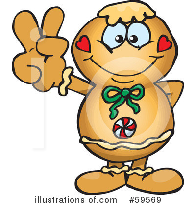 Gingerbread Man Clipart #59569 by Dennis Holmes Designs