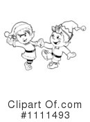 Royalty-Free (RF) Christmas Elves Clipart Illustration #1111493