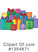 Royalty-Free (RF) Christmas Gift Clipart Illustration #1354871