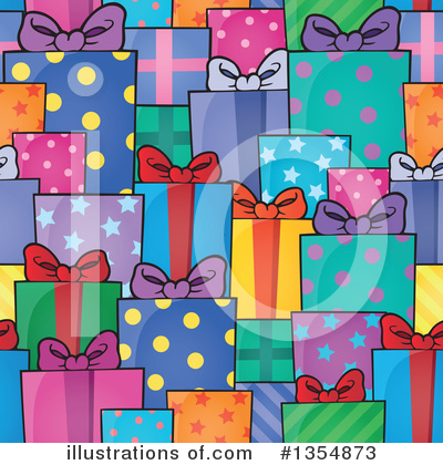 Royalty-Free (RF) Christmas Gift Clipart Illustration by visekart - Stock Sample #1354873