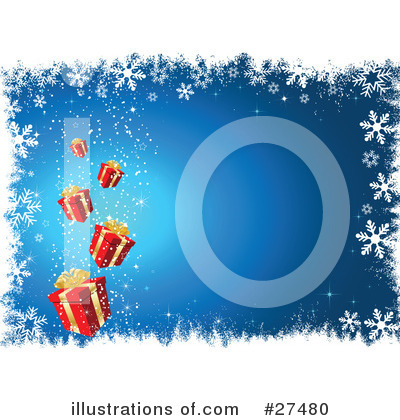 Royalty-Free (RF) Christmas Gift Clipart Illustration by KJ Pargeter - Stock Sample #27480