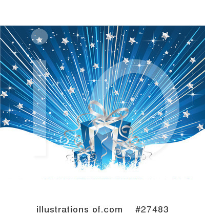 Royalty-Free (RF) Christmas Gift Clipart Illustration by KJ Pargeter - Stock Sample #27483