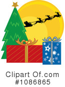 Royalty-Free (RF) Christmas Gifts Clipart Illustration #1086865