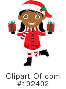 Royalty-Free (RF) Christmas Girl Clipart Illustration #102402