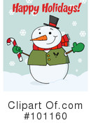 Christmas Greeting Clipart #101160 by Hit Toon