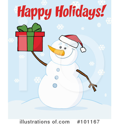 Snowman Clipart #101167 by Hit Toon