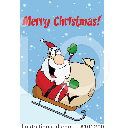 Santa Clipart #101200 by Hit Toon
