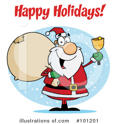 Santa Clipart #101201 by Hit Toon