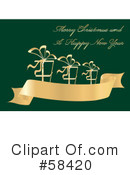Royalty-Free (RF) Christmas Greeting Clipart Illustration #58420