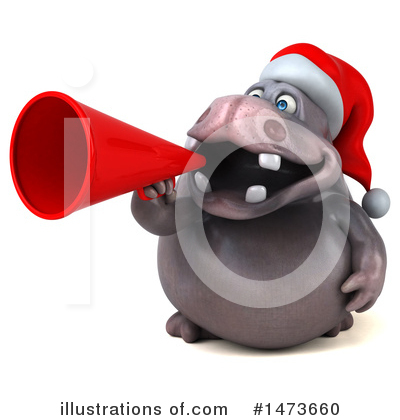 Christmas Hippo Clipart #1473660 by Julos