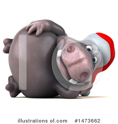 Christmas Hippo Clipart #1473662 by Julos