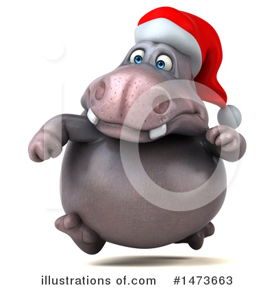 Christmas Hippo Clipart #1473663 by Julos