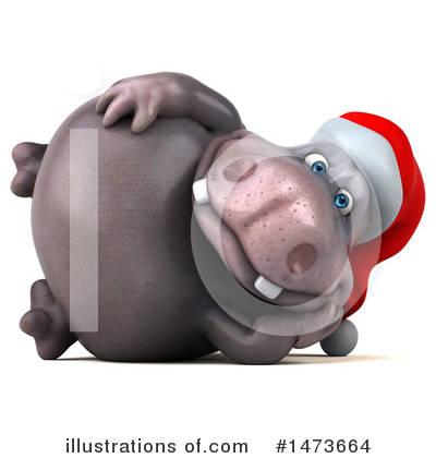 Christmas Hippo Clipart #1473664 by Julos