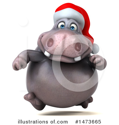 Christmas Hippo Clipart #1473665 by Julos