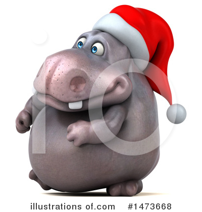 Christmas Hippo Clipart #1473668 by Julos