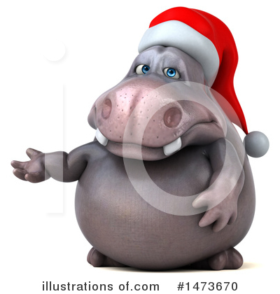 Christmas Hippo Clipart #1473670 by Julos