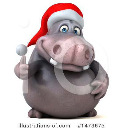 Christmas Hippo Clipart #1473675 by Julos