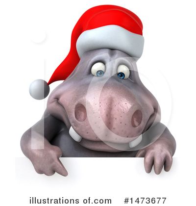 Christmas Hippo Clipart #1473677 by Julos