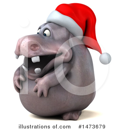 Christmas Hippo Clipart #1473679 by Julos