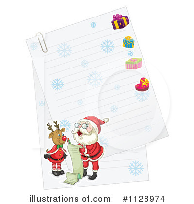 Royalty free rf christmas letter clipart illustration by colematt