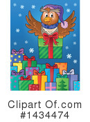 Royalty-Free (RF) Christmas Owl Clipart Illustration #1434474