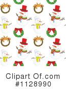 Christmas Pattern Clipart #1128990 by Graphics RF