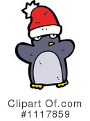 Christmas Penguin Clipart #1117859 by lineartestpilot