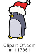 Christmas Penguin Clipart #1117861 by lineartestpilot