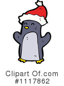Christmas Penguin Clipart #1117862 by lineartestpilot