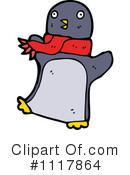 Christmas Penguin Clipart #1117864 by lineartestpilot