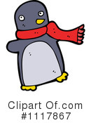 Christmas Penguin Clipart #1117867 by lineartestpilot
