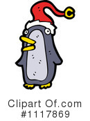 Christmas Penguin Clipart #1117869 by lineartestpilot