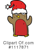 Christmas Penguin Clipart #1117871 by lineartestpilot