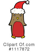Christmas Penguin Clipart #1117872 by lineartestpilot