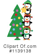 Royalty-Free (RF) Christmas Penguin Clipart Illustration #1139138