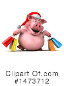 Christmas Pig Clipart #1473712 by Julos