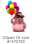 Christmas Pig Clipart #1473723 by Julos