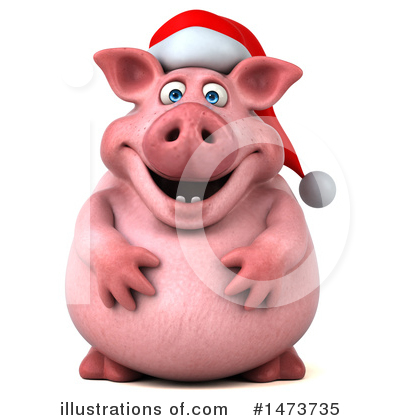 Chubby Pig Clipart #1473735 by Julos