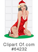 Christmas Pin Up Clipart #64232 by David Rey