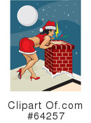 Royalty-Free (RF) christmas pin up Clipart Illustration #64257