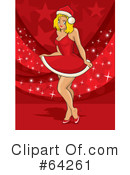 Royalty-Free (RF) christmas pin up Clipart Illustration #64261
