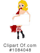 Royalty-Free (RF) Christmas pinup Clipart Illustration #1084048